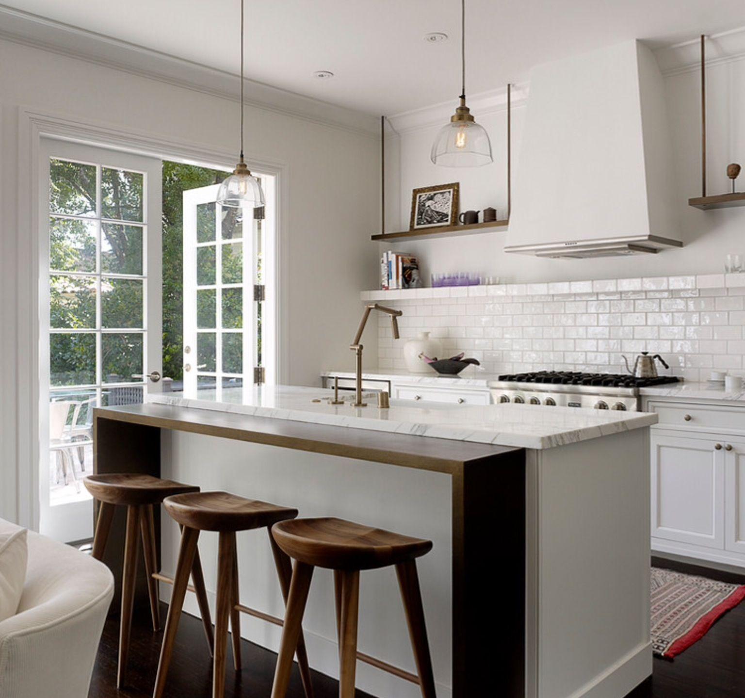 By Houzz | Kitchen island in 2019 | White kitchen island ...