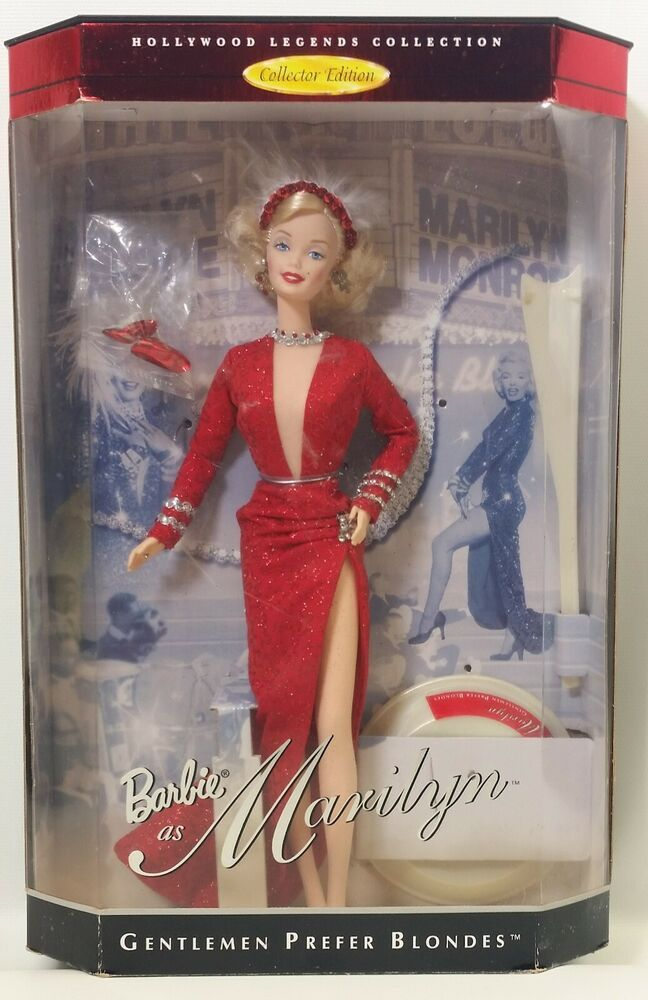 Barbie as Marilyn Gentleman Prefer Blondes Hollywood Legends 4 No. 17452 NRFB #Mattel #DollswithClothingAccessories #hollywoodlegends