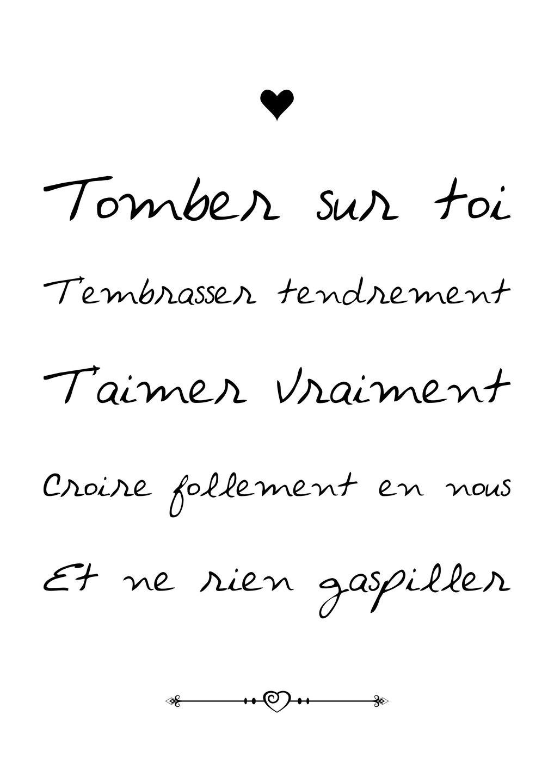 A4 Affiche Papier Tomber Sur Toi Citation Texte
