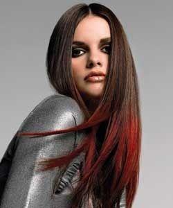 Frisuren rote spitzen