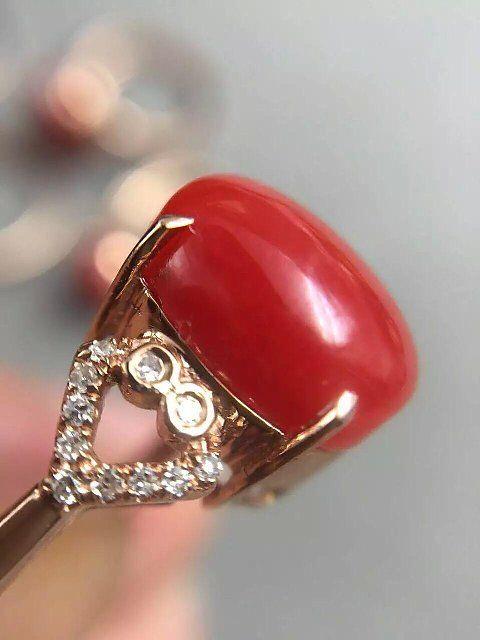【迎玉轩】阿卡玫瑰金镶嵌戒指