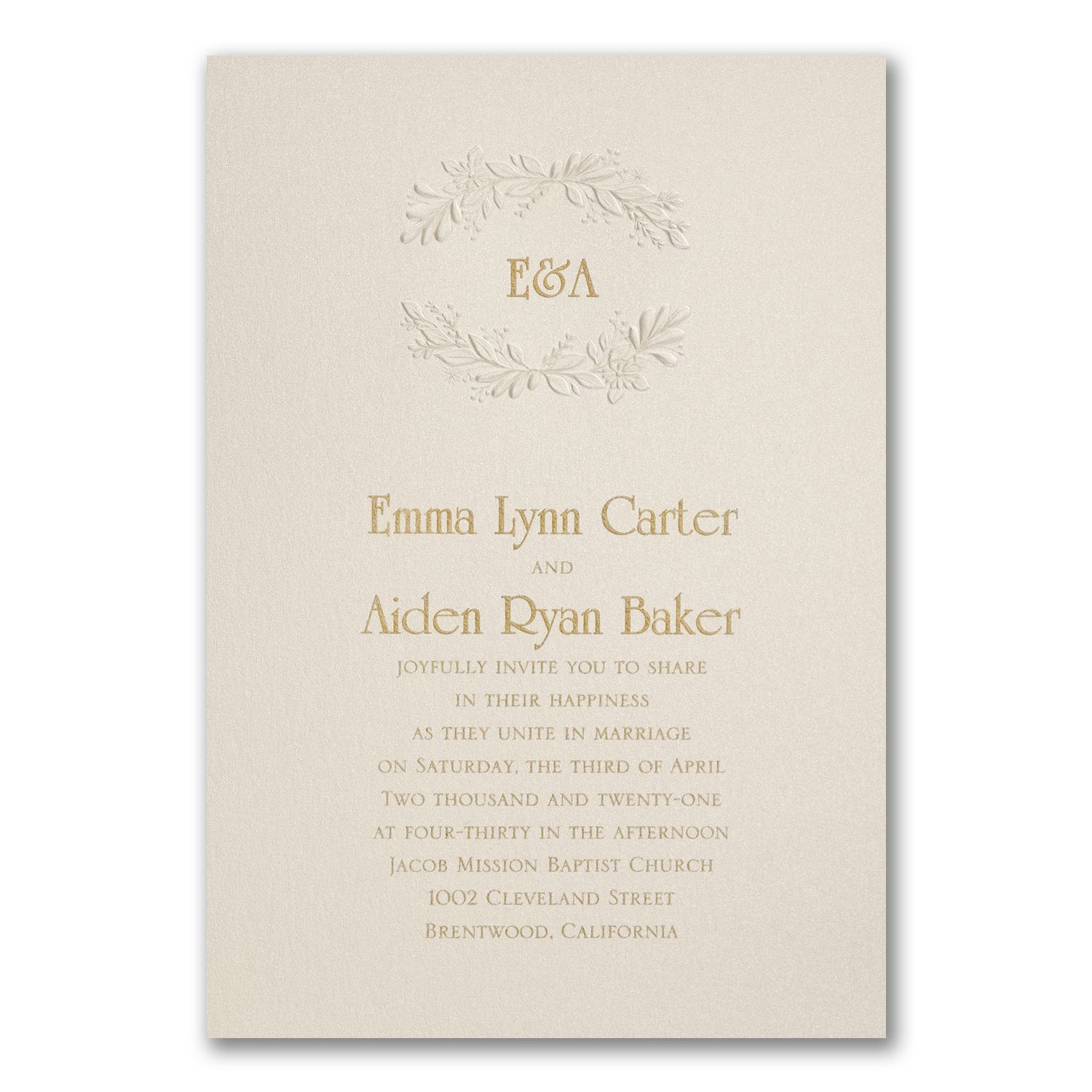 Botanic Crest Invitation. Available at Persnickety Invitation Studio ...