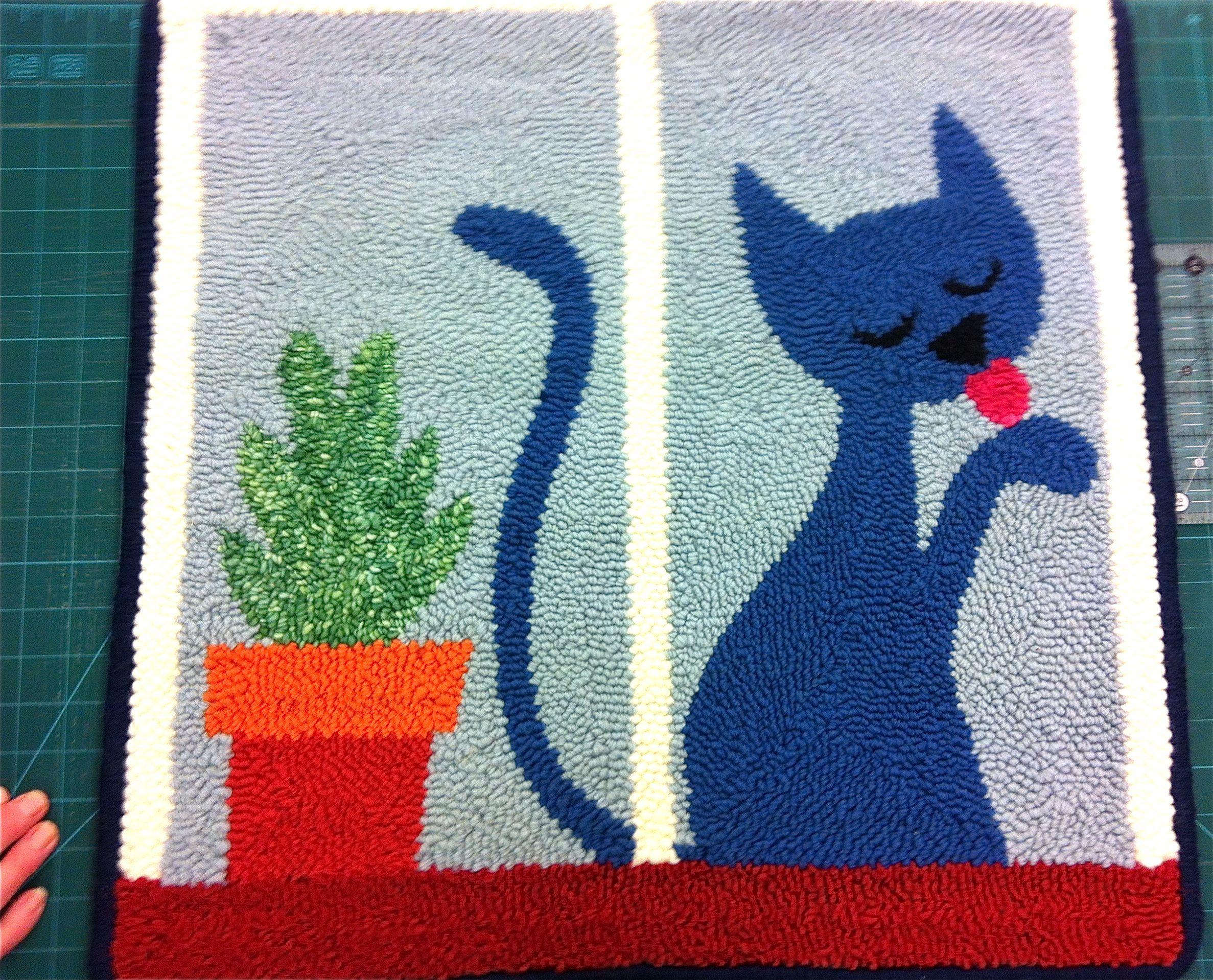 Sonia Fretter's Parisian Cat Rug. Sonia is from Liskeard