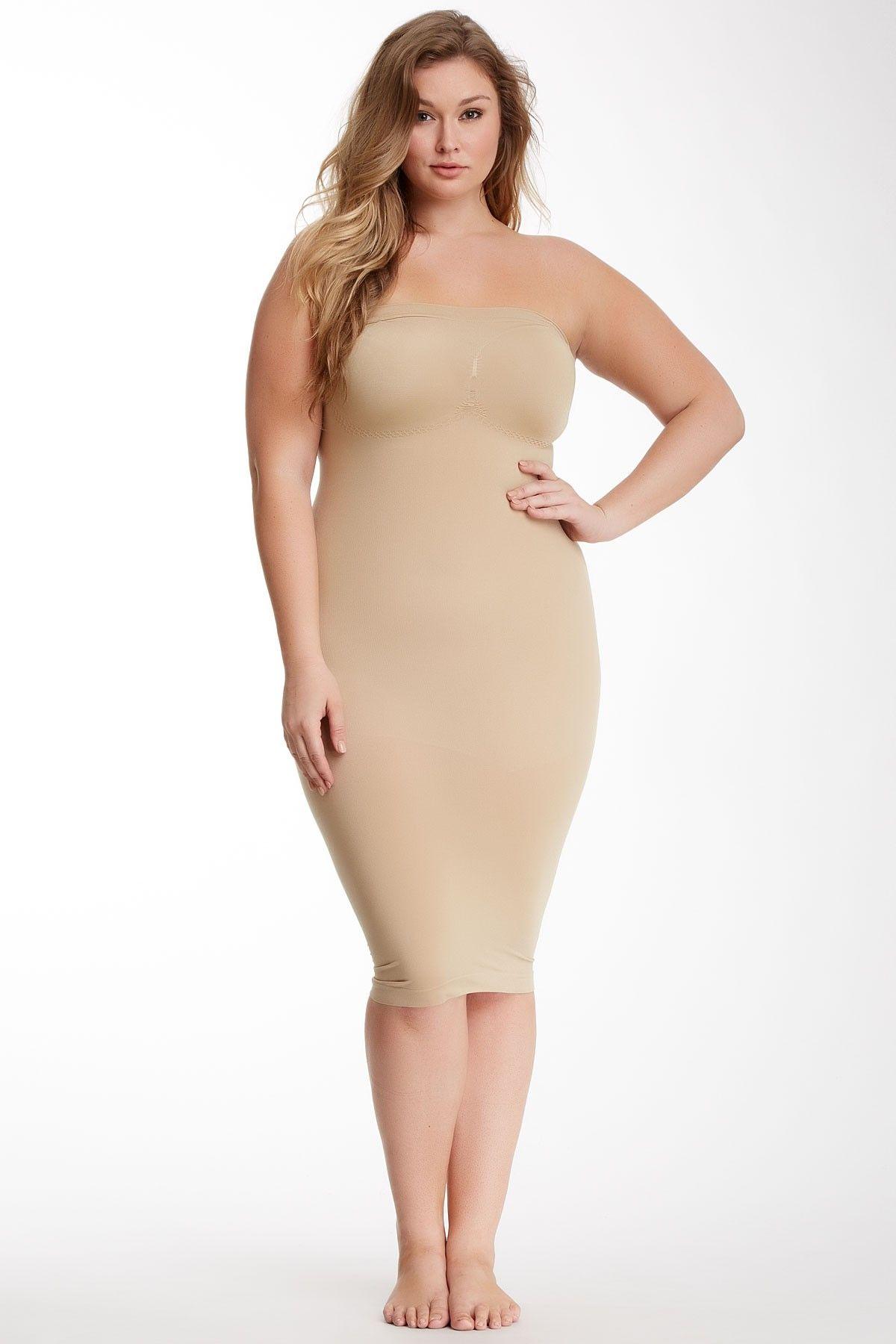 Strapless Dress Shaper (Plus Size) | Shapewear, Strapless dress and ...