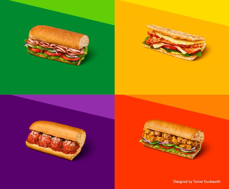 Subway Visual Identity Sub Sandwiches Food Food Design Subway
