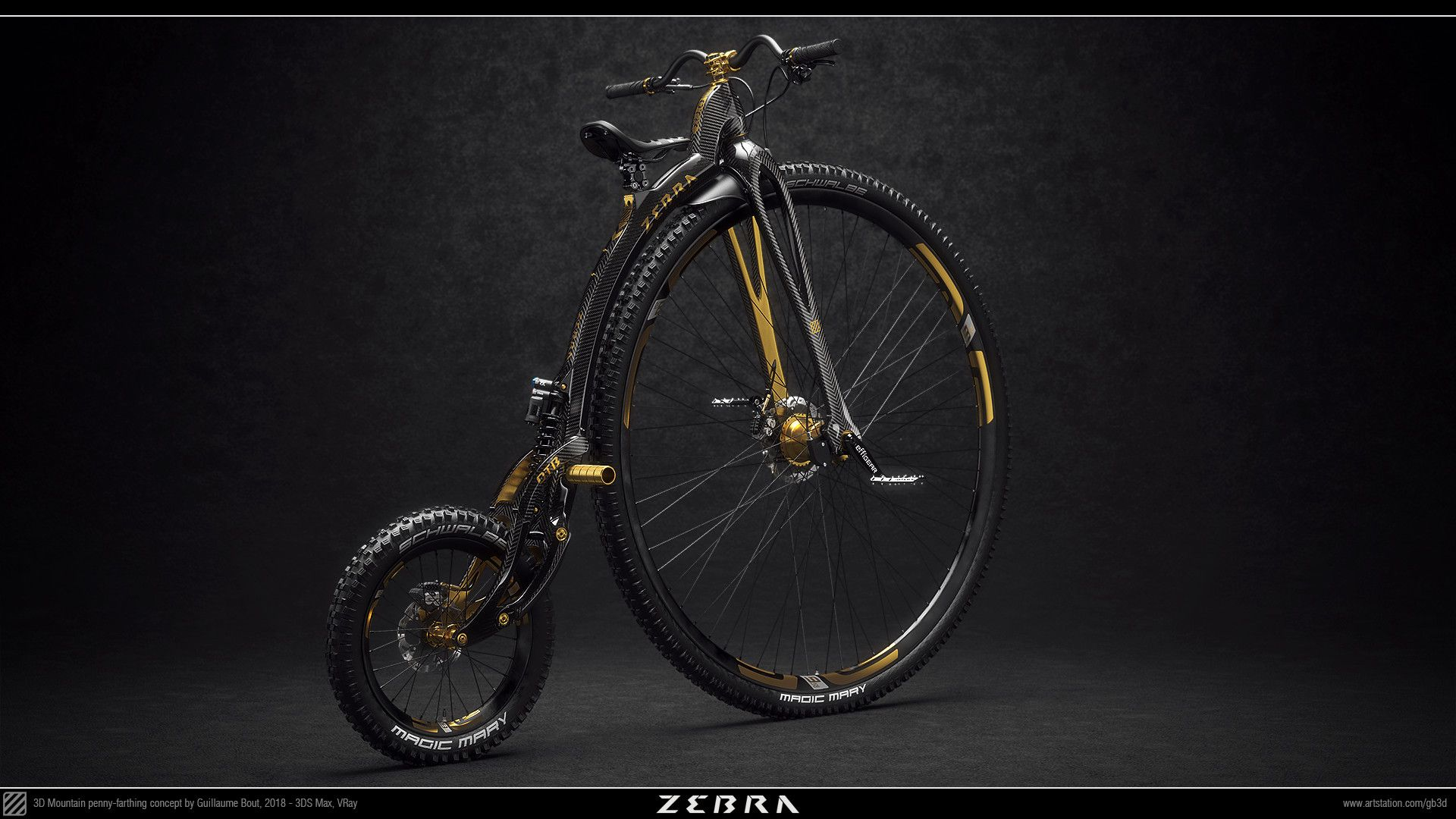 Zebra O T B By Guillaume Bout Penny Farthing Bike Bicycle