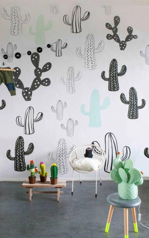 onszelf little ozp 3762 poster papier peint cactus. Black Bedroom Furniture Sets. Home Design Ideas