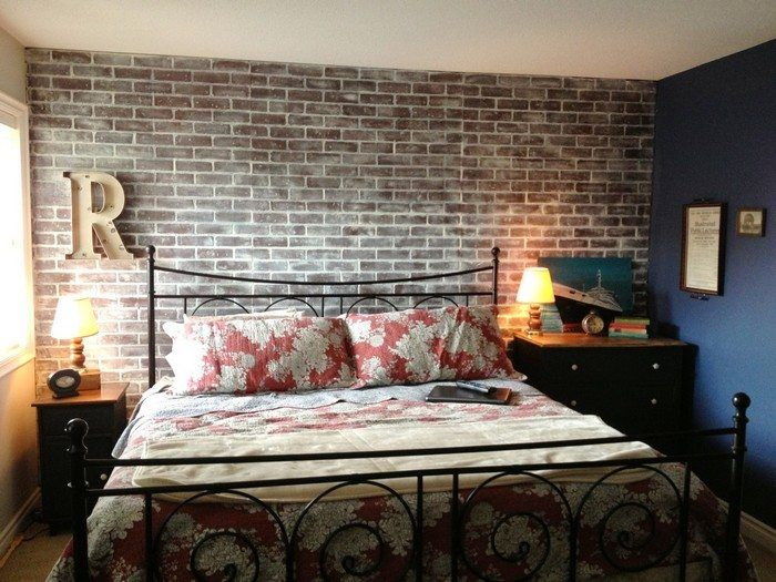 How to Faux Brick Wall is part of Home Accents Faux Brick - Brick walls are nice but they are not cheap nor easy to do  Now if you've always wanted to have this rustic industrial look in your room but don't have the