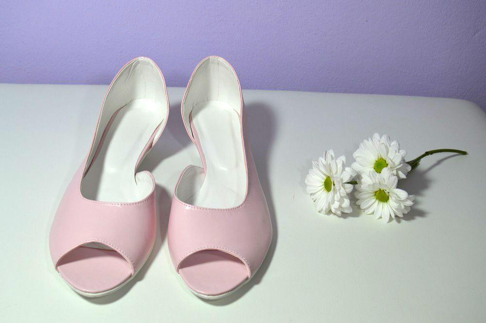 7e3da399ca Růžové lodičky s otevřenou špičkou - model Jane eko kůže pink. svatební obuv