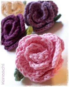 Röschen Kostenlose Anleitung Flori Crochet Pinterest Crochet