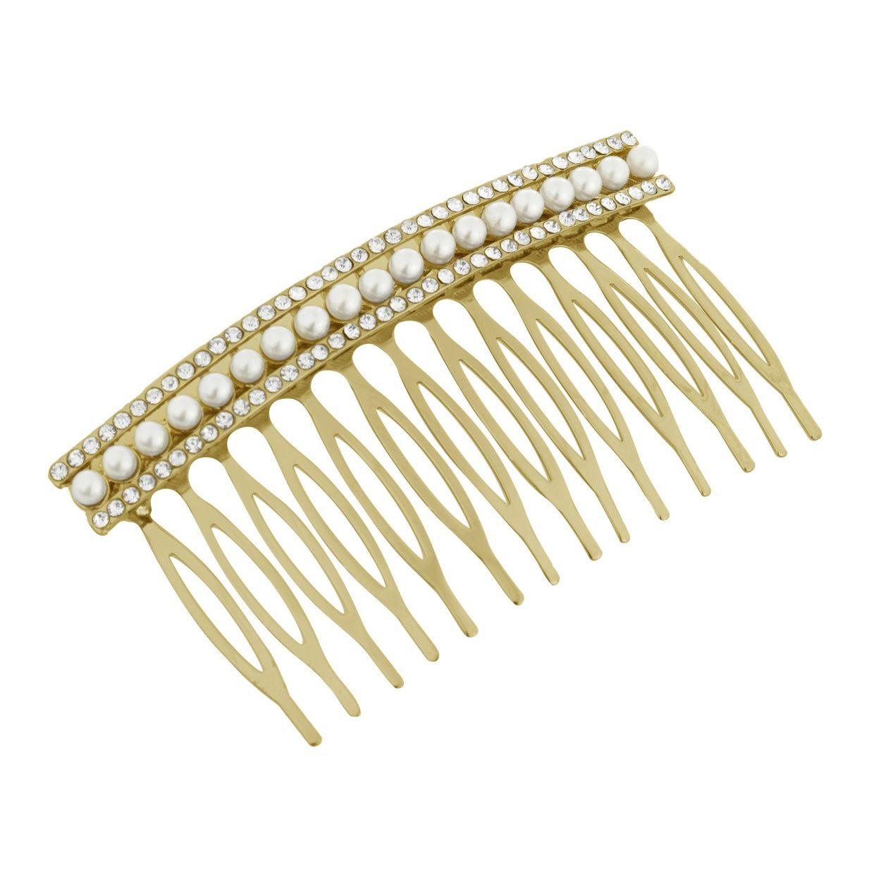 no. 1 jenny packham designer silver pearl hair comb- at debenhams