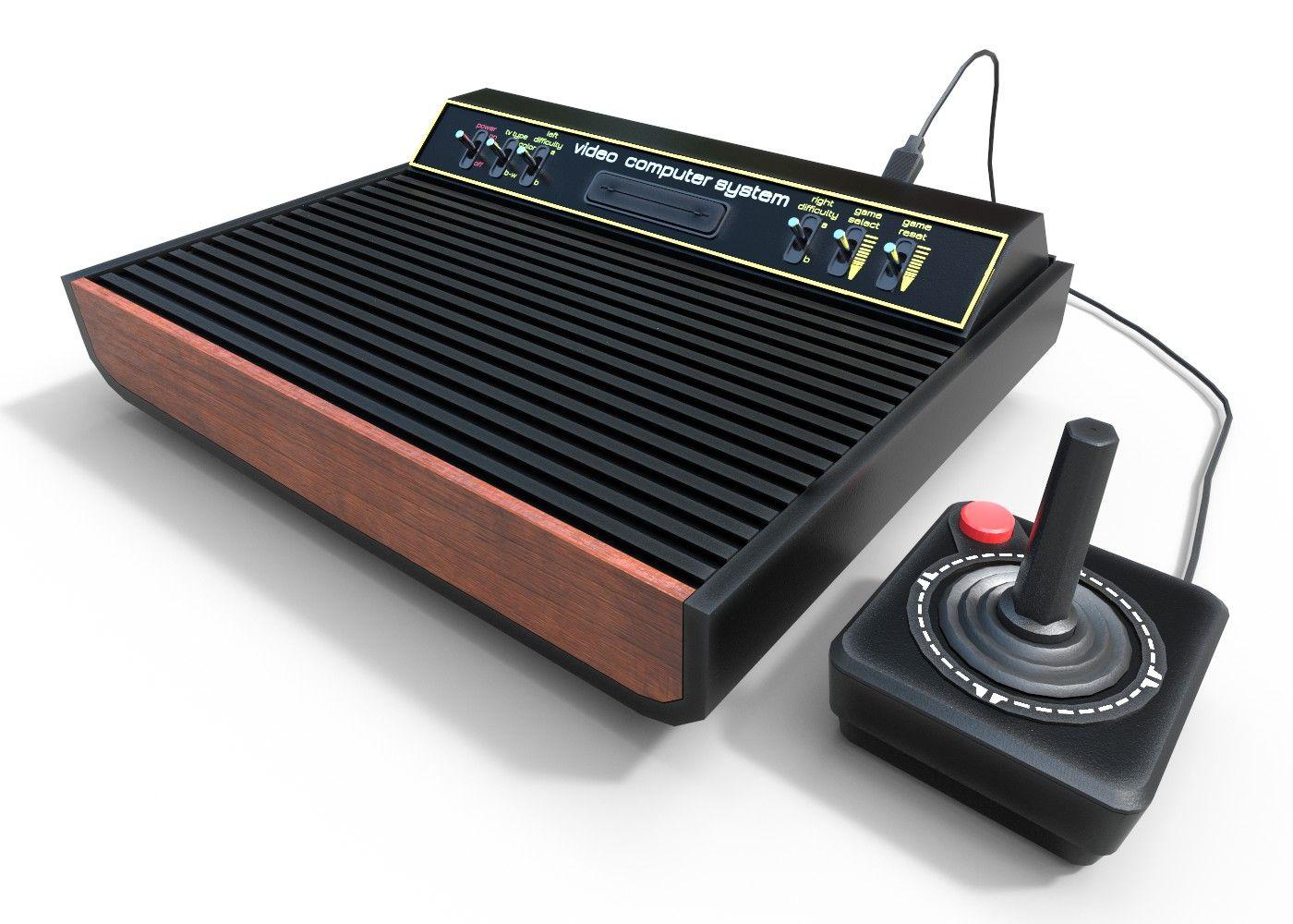 Atari 2600 Low Poly Vintage Items Atari Low Poly