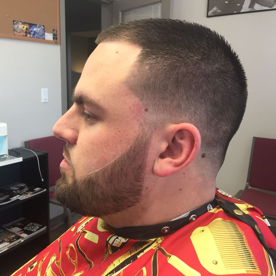 Lowbald Fade With A Beard Trim And S Haircut Stylei Am A