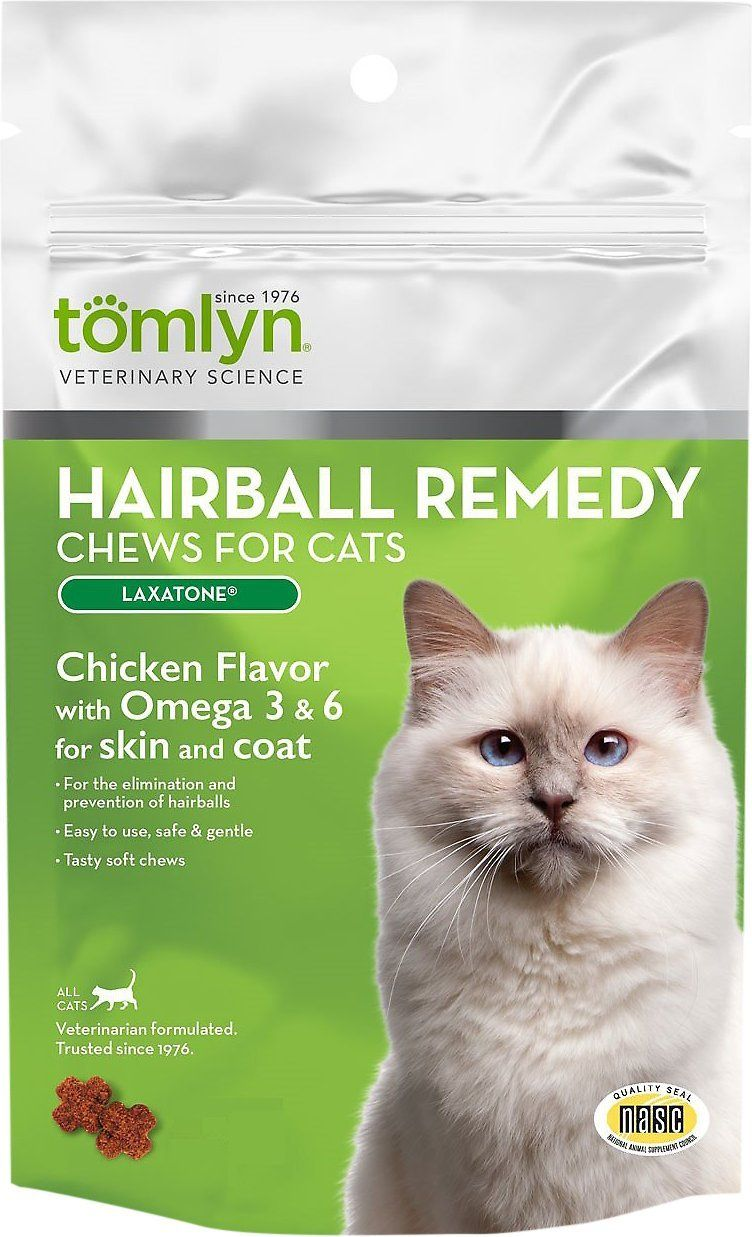 Hairball Remedy Laxatone Chicken Flavor Cat Chews, 60