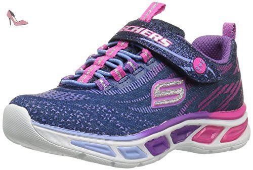 Skechers Litebeams, Sneakers Basses Fille, Bleu (Nvmt), 28 EU - Chaussures skechers (*Partner-Link)