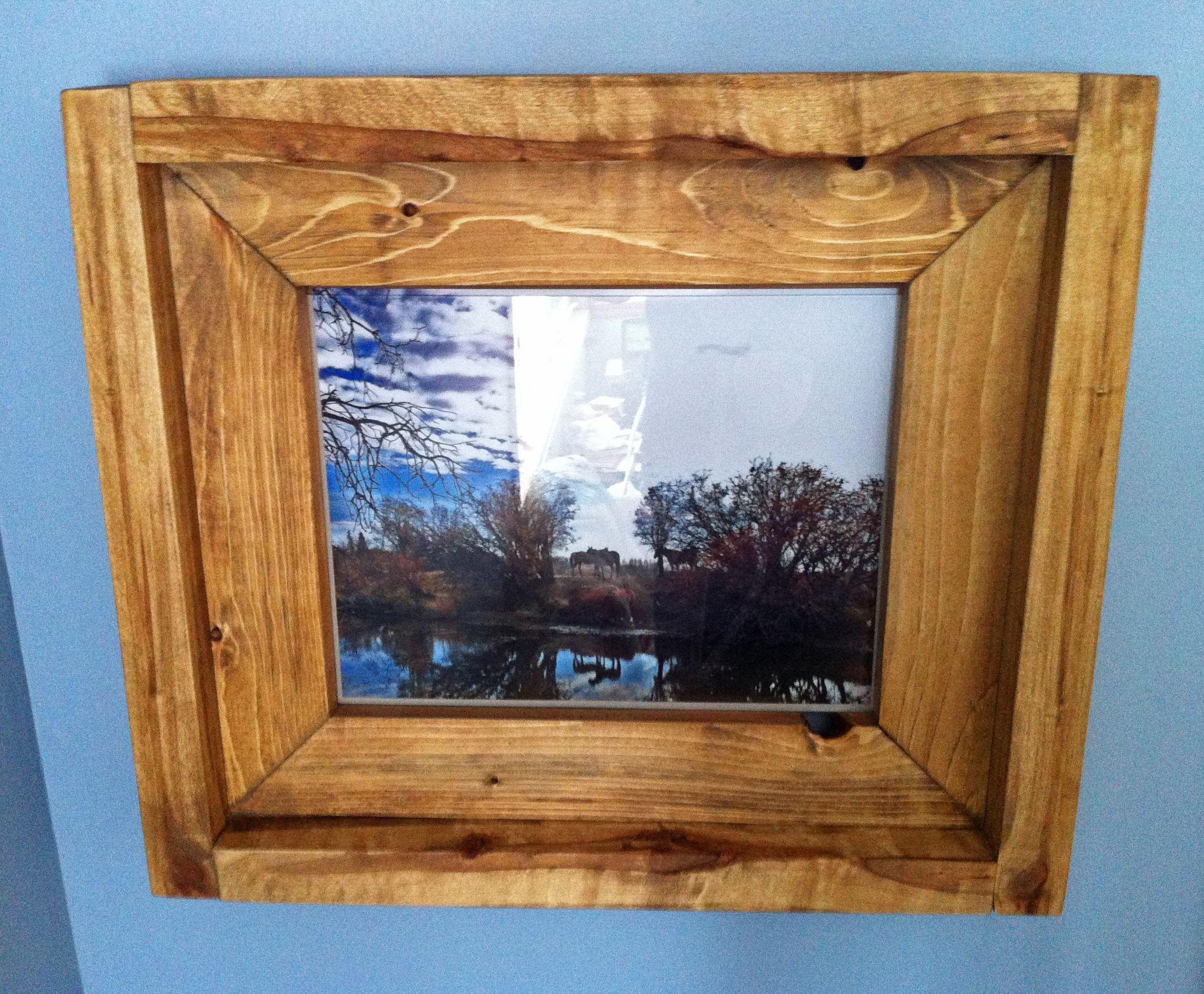 Wooden picture frame 11x14 rough sawn poplar barn wood planed wooden picture frame 11x14 rough sawn poplar barn wood planed jeuxipadfo Gallery
