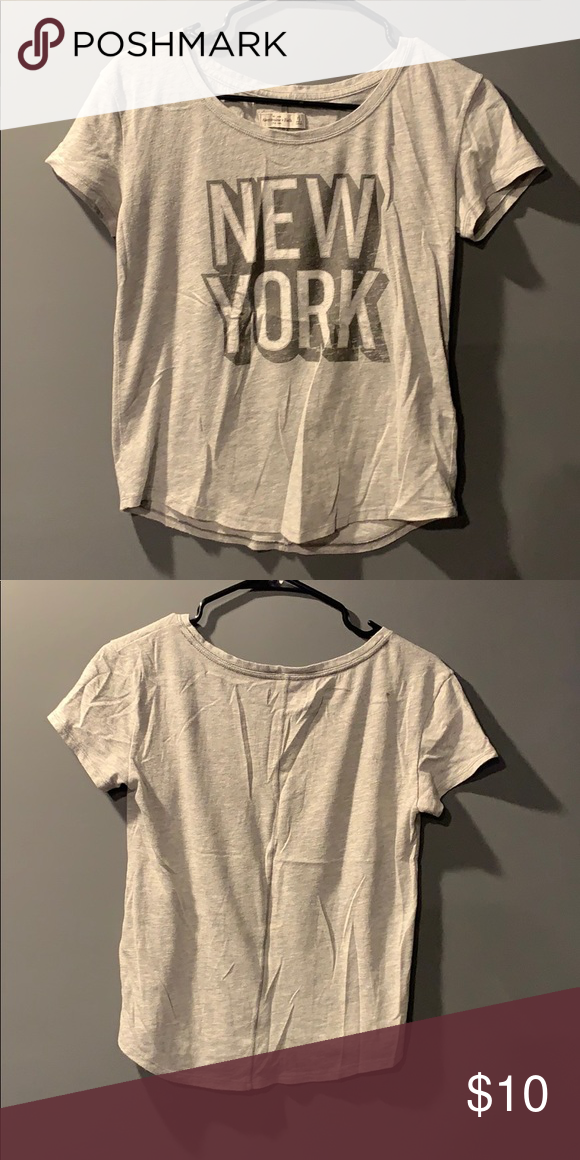 42038618 Abercrombie and Fitch New York tee Grey New York tee Abercrombie & Fitch  Tops Tees - Short Sleeve