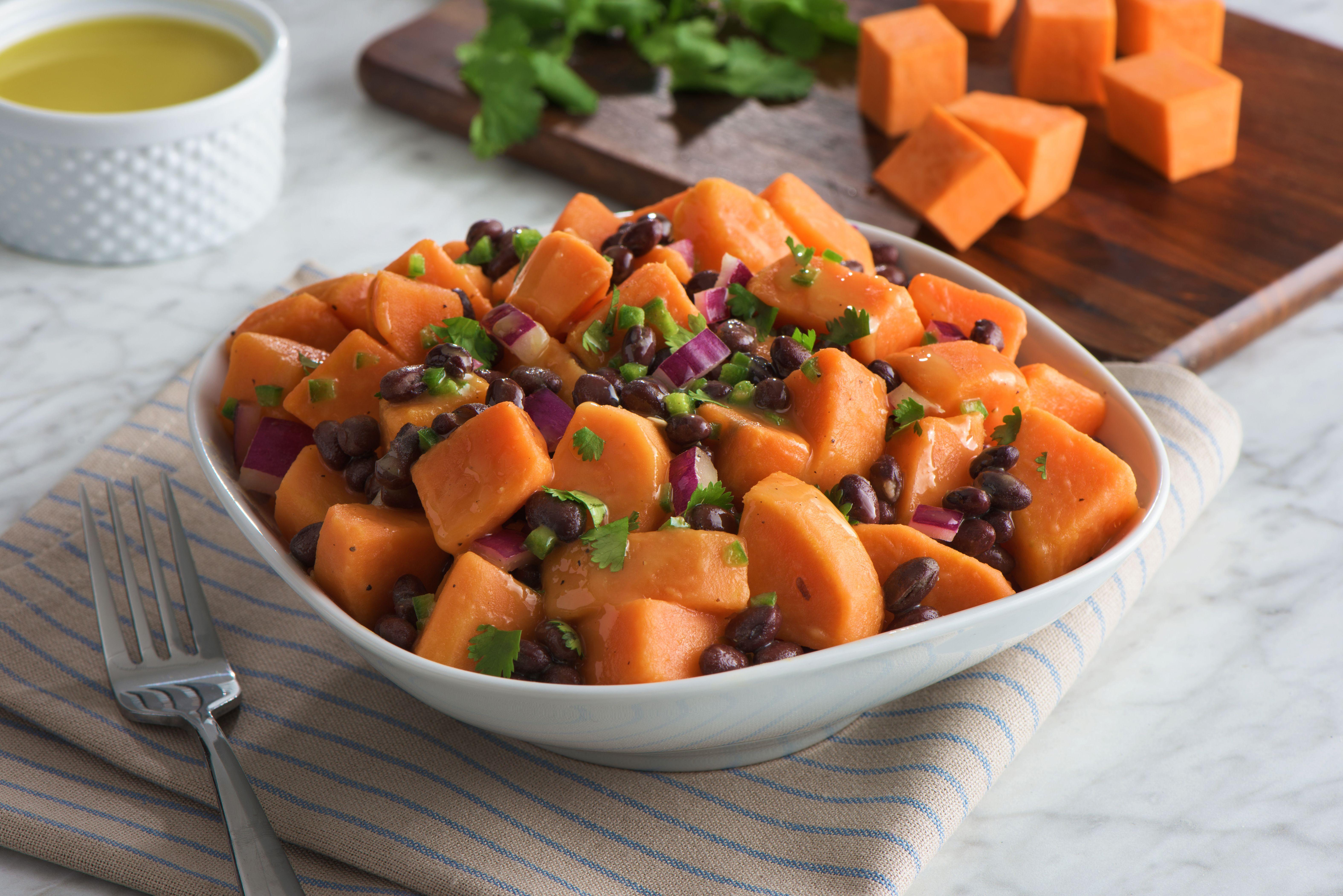 Sweet Potato And Black Bean Salad Recipe Glorious Vegetables Pinterest Large Bowl Lime Juice Beans