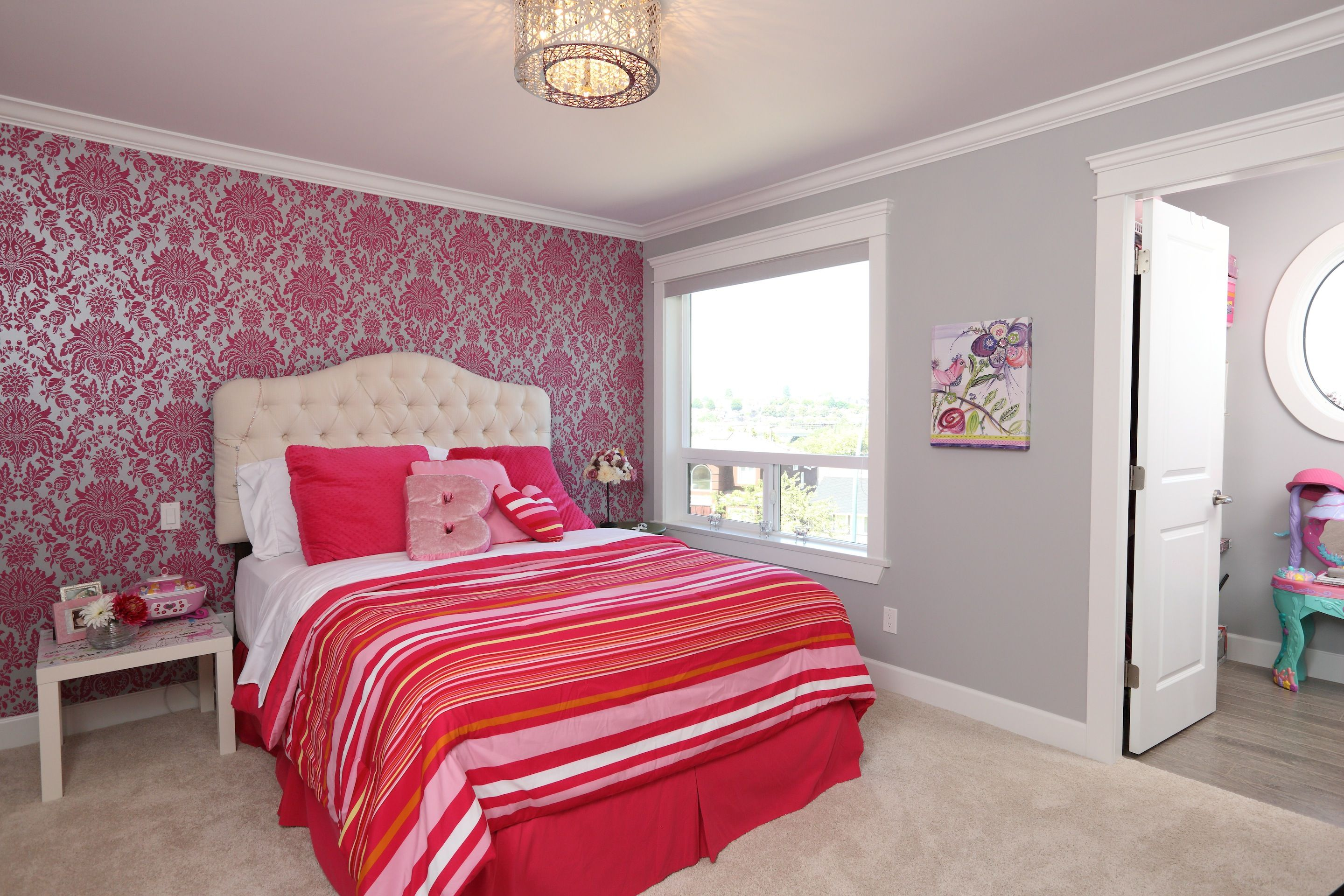 Our clients let their daughter get involved in designing her room - and the results are beautiful! #custom #home