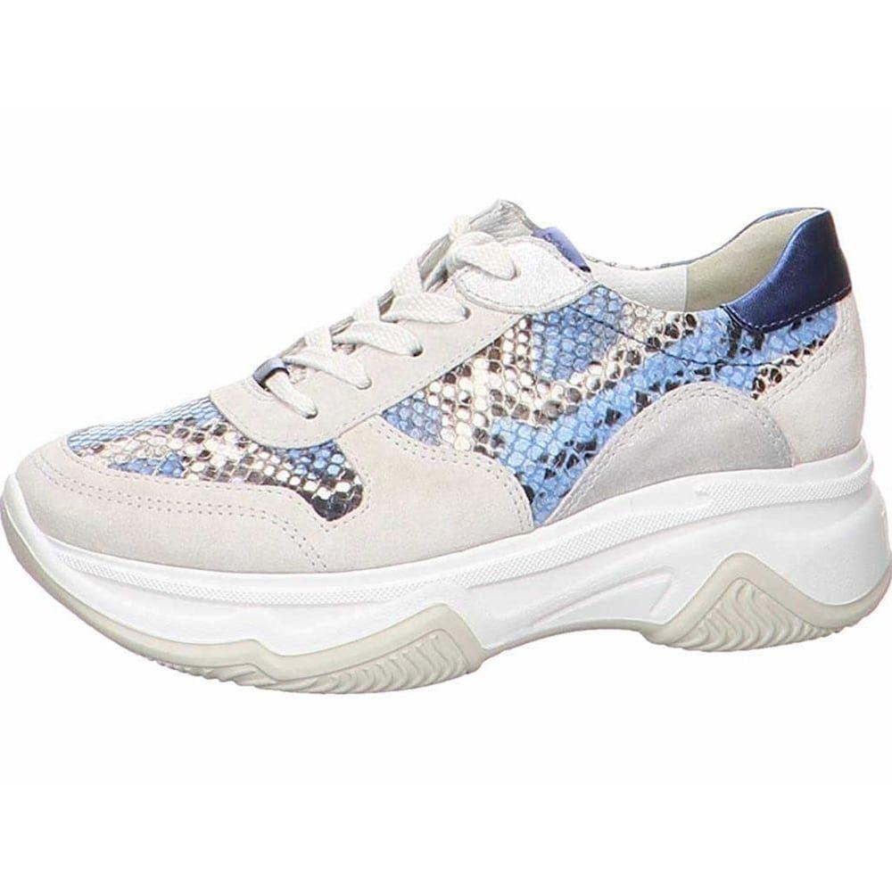 Paul Green Sneakers Damen, Beige Hellblau Mischfarben