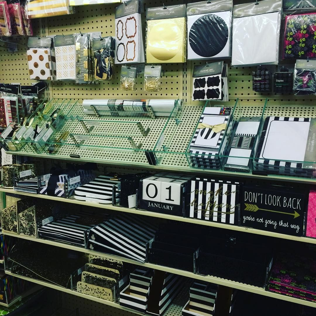 """""""Hobby Lobby Has New Stationary And Office Supplies! Black"""