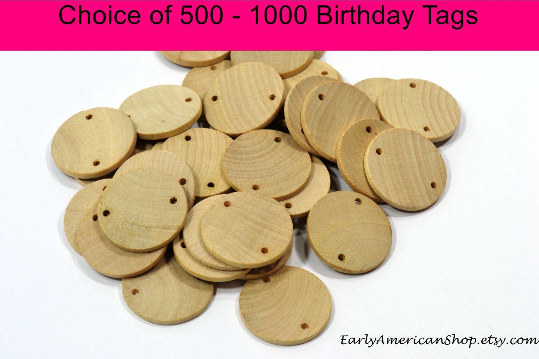 Birthday board tagsunfinished natural hardwoodwood discs