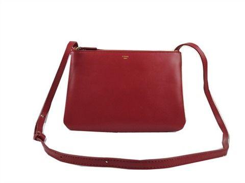 109bfcbb9adf replica celine trio original leather shoulder bag ro36414 burgundy ...