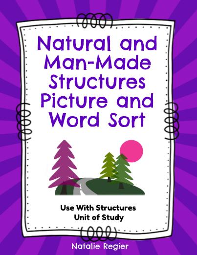 natural and man made structures word sort editableprintables freeprintables teachersherpa. Black Bedroom Furniture Sets. Home Design Ideas
