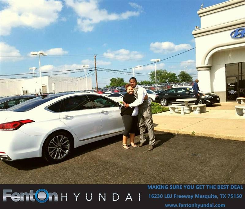 Happy Anniversary to Alonda on your Hyundai Genesis from
