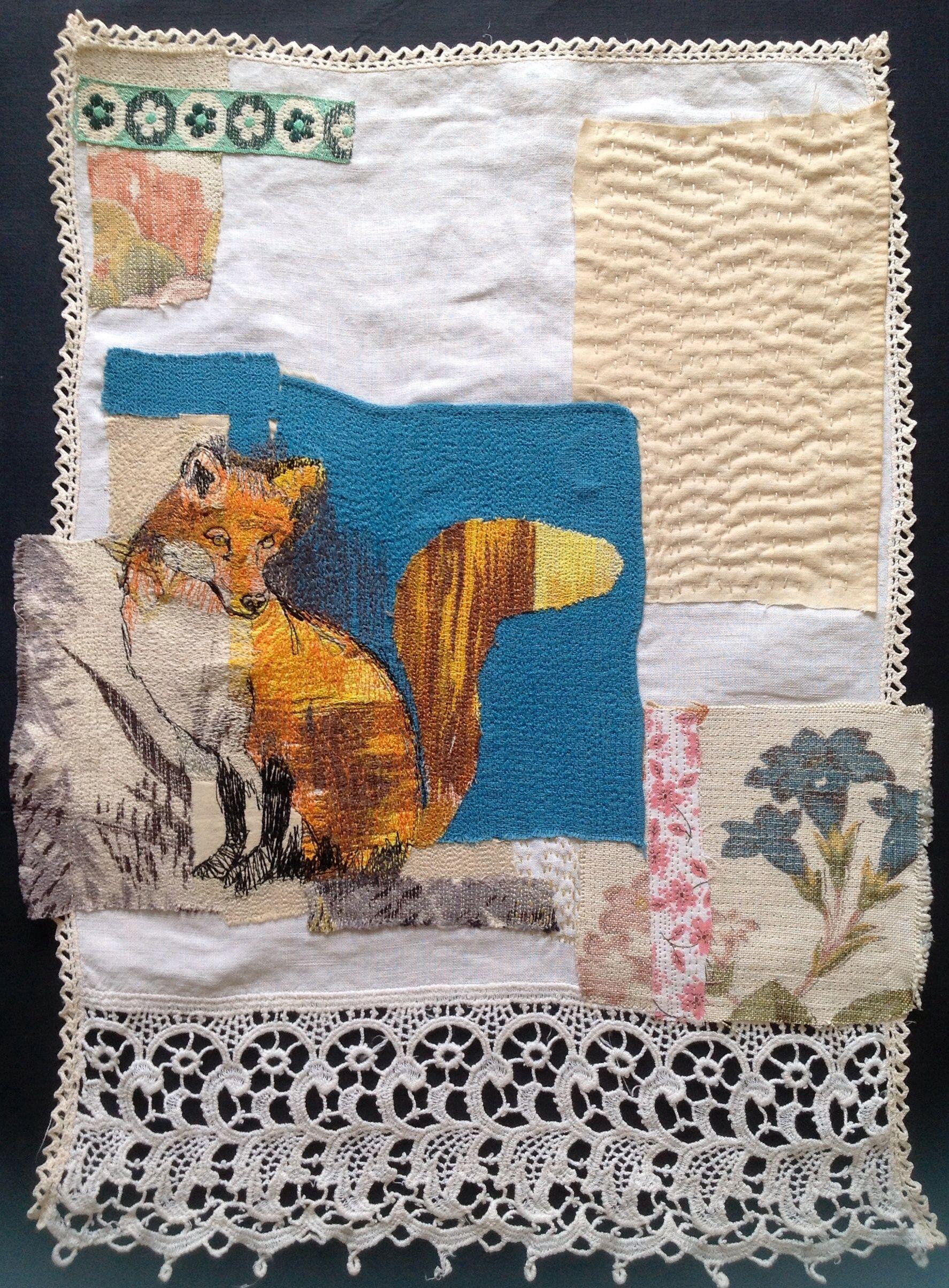 Fox wall hanging mrsbertimus.blogspot.com