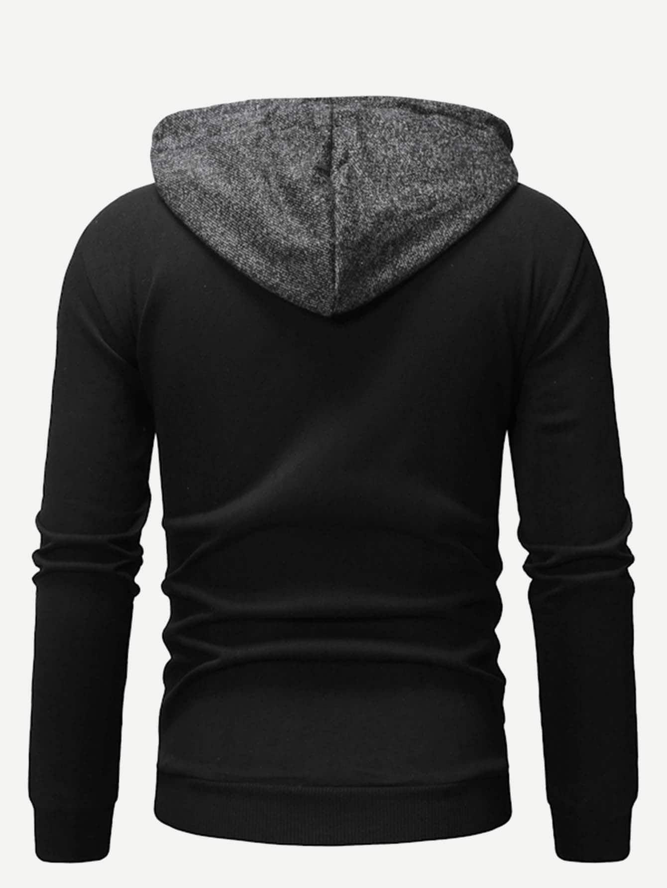 3d54ef0a43 Men Cut And Sew Panel Zip Up Hoodie Sew#Cut#Men | Fashion ...