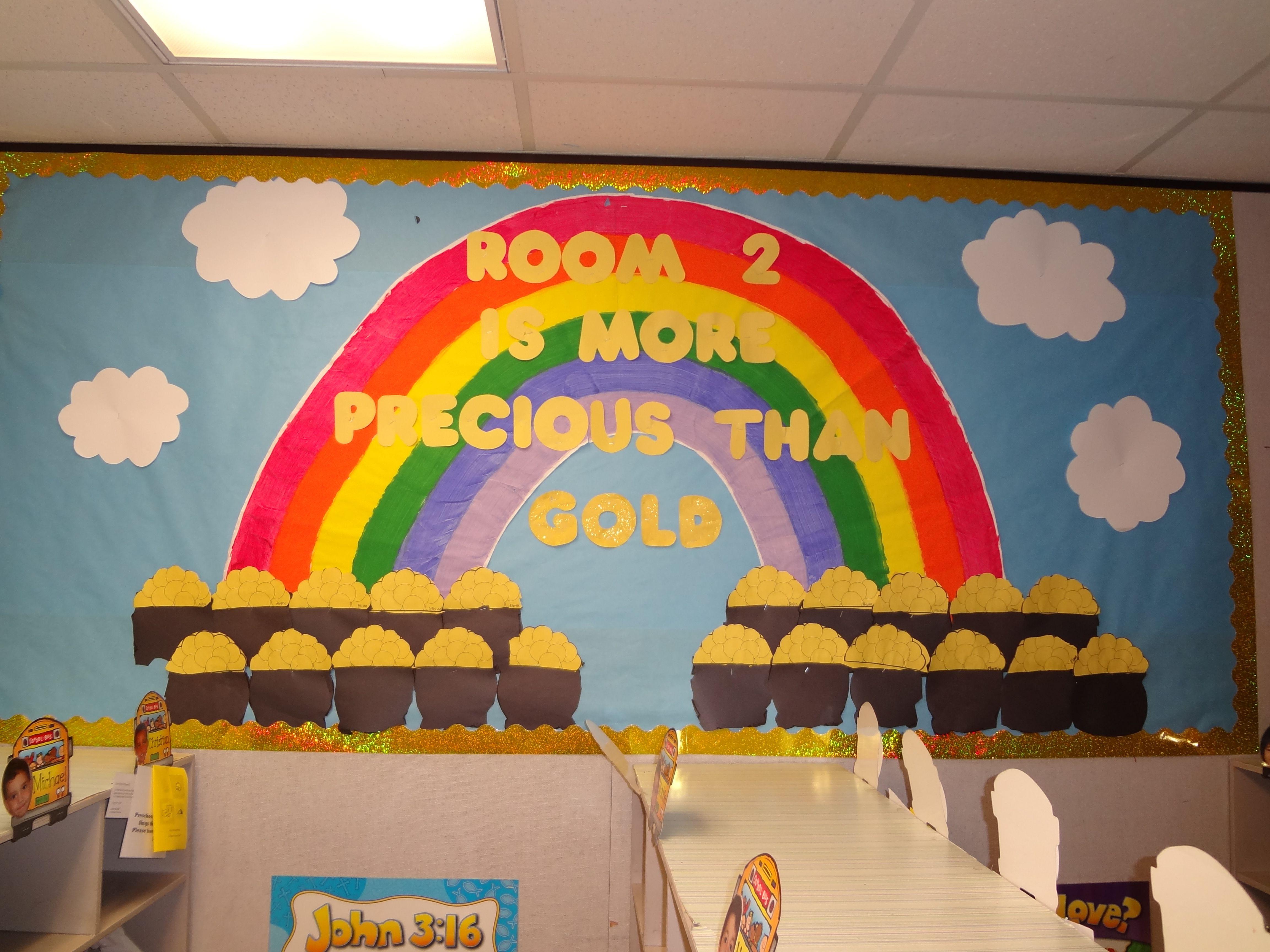 Room 2 is more precious than gold bulletin board