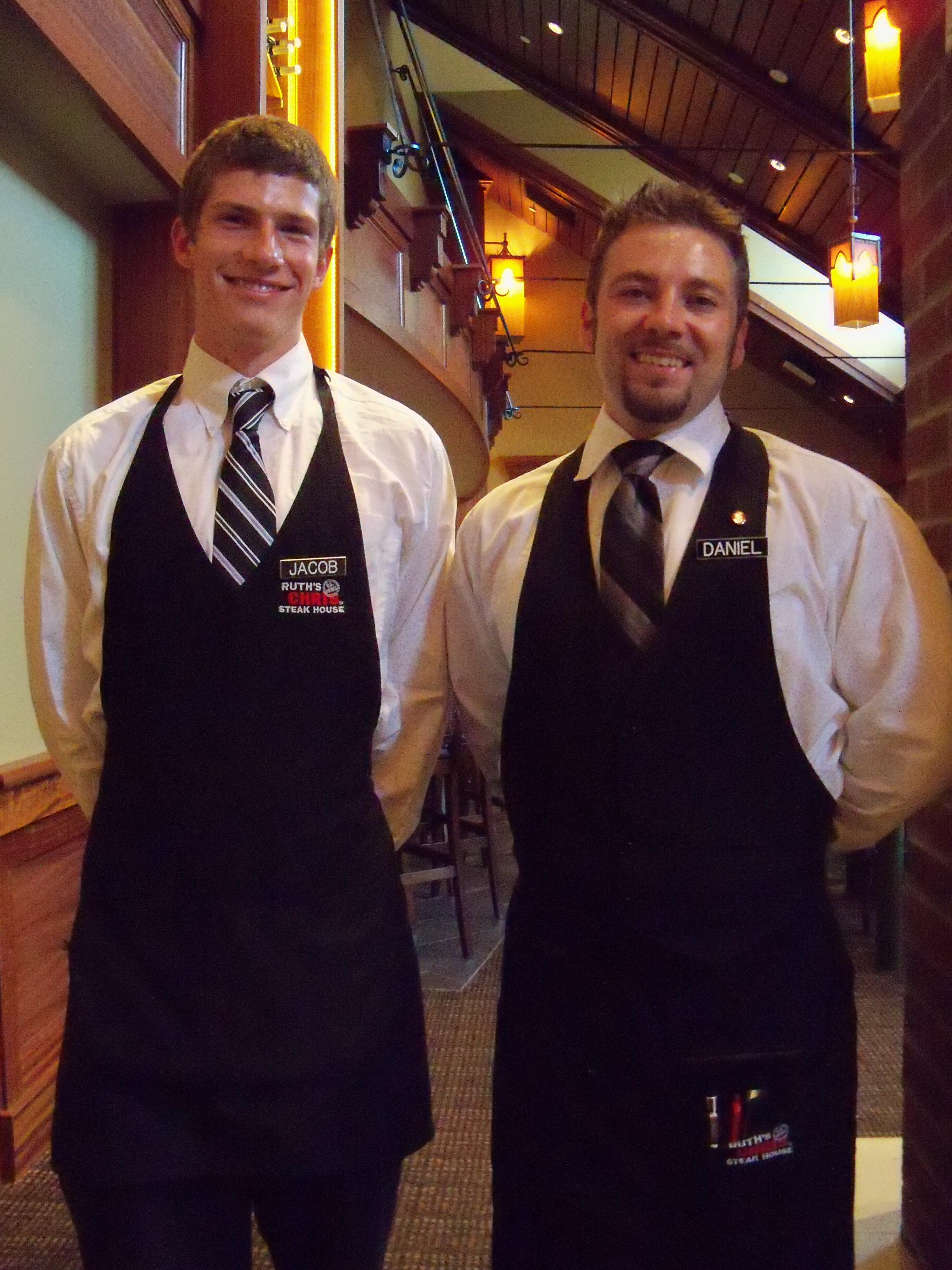 jacob and daniel floor team at ruth s chris asheville nc