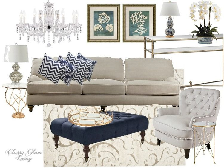color trend - black white gold vs. navy white gold | living rooms