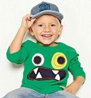 Moda Niños/Niñas Cabritos de la camiseta Ropa 2016 Niños de la Marca Camiseta de Los Muchachos/Muchachas Tops Manga Larga de Algodón Niños Las camisetas de Las Muchachas/de Los Muchachos