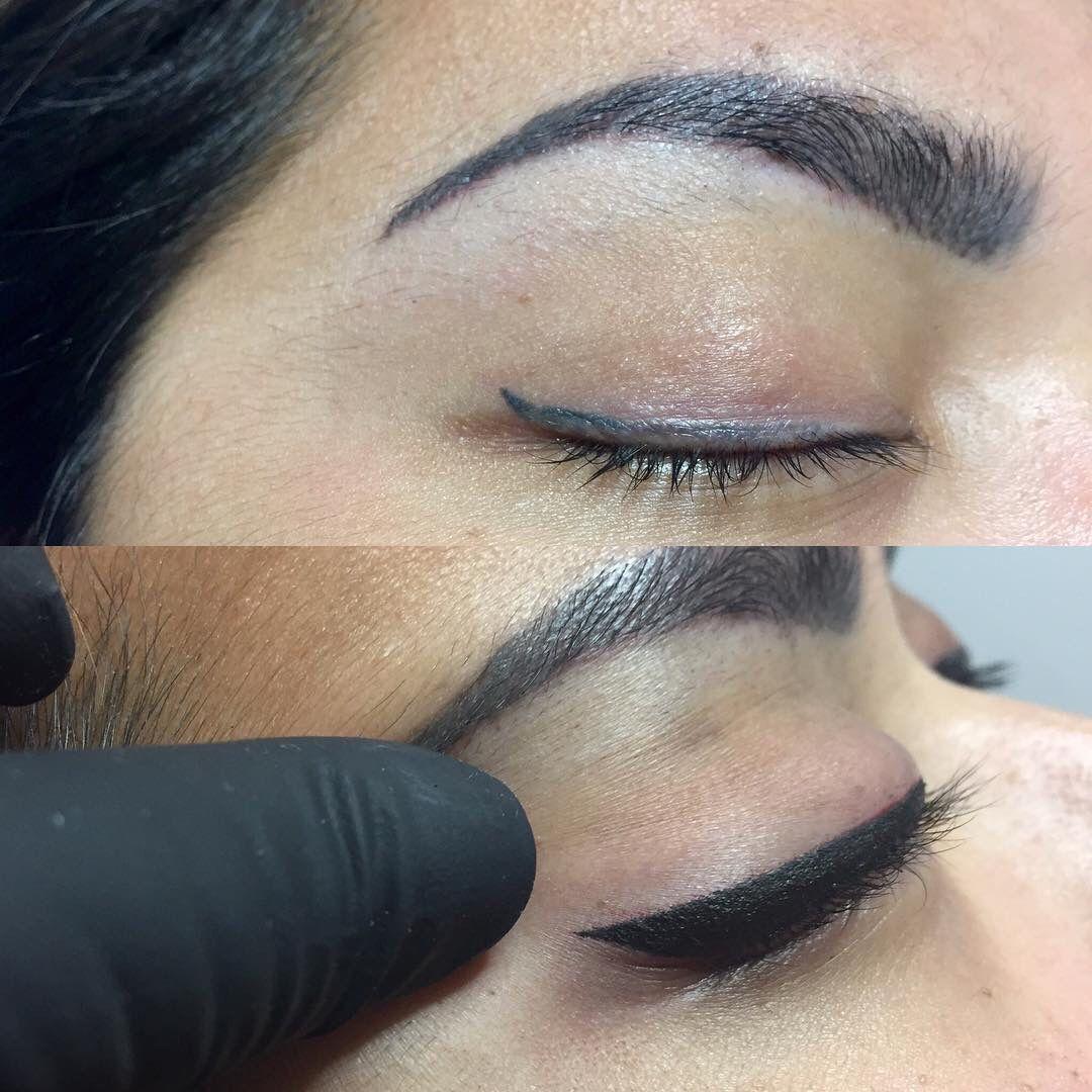Permanent eyeliner Permanent Makeup Pinterest