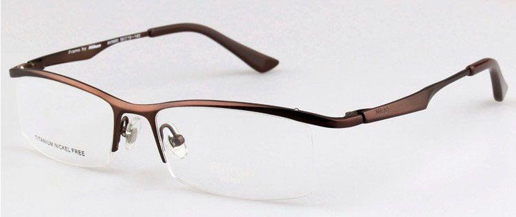 10a683971c Free shipping News brand designer frames for glasses AV9880T titanium semi  rimless glass frames men Optical frame eyeglasses(China (Mainland))
