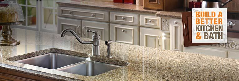 Quartz Sienna Ridgesilestone At Home Depot  Kitchen Glamorous Home Depot Kitchen Countertops Inspiration Design