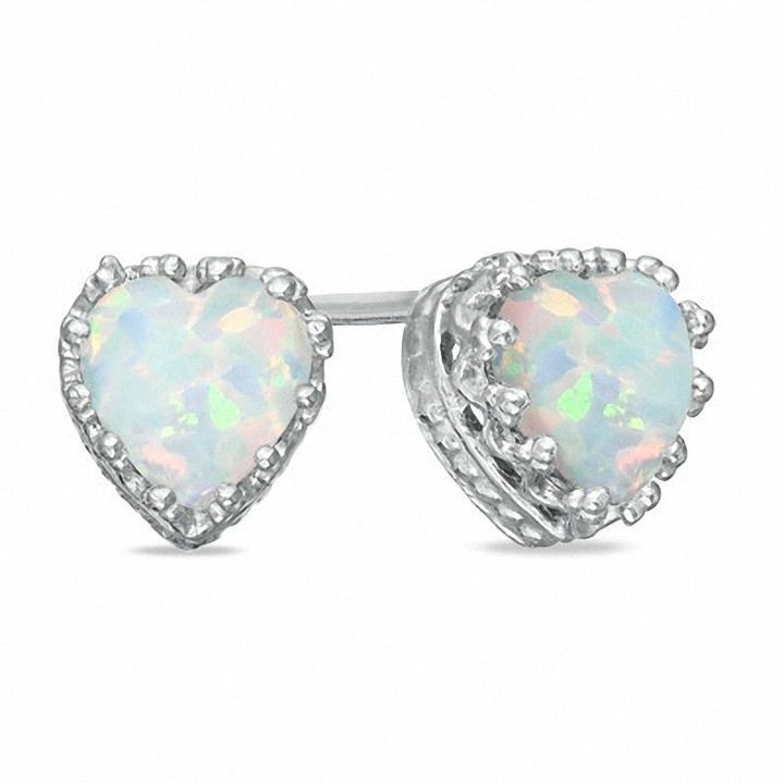 Simple White Rainbow Created Opal Daisy Flower Stud Earrings For Women For Teen 925 Sterling Silver October Birthstone