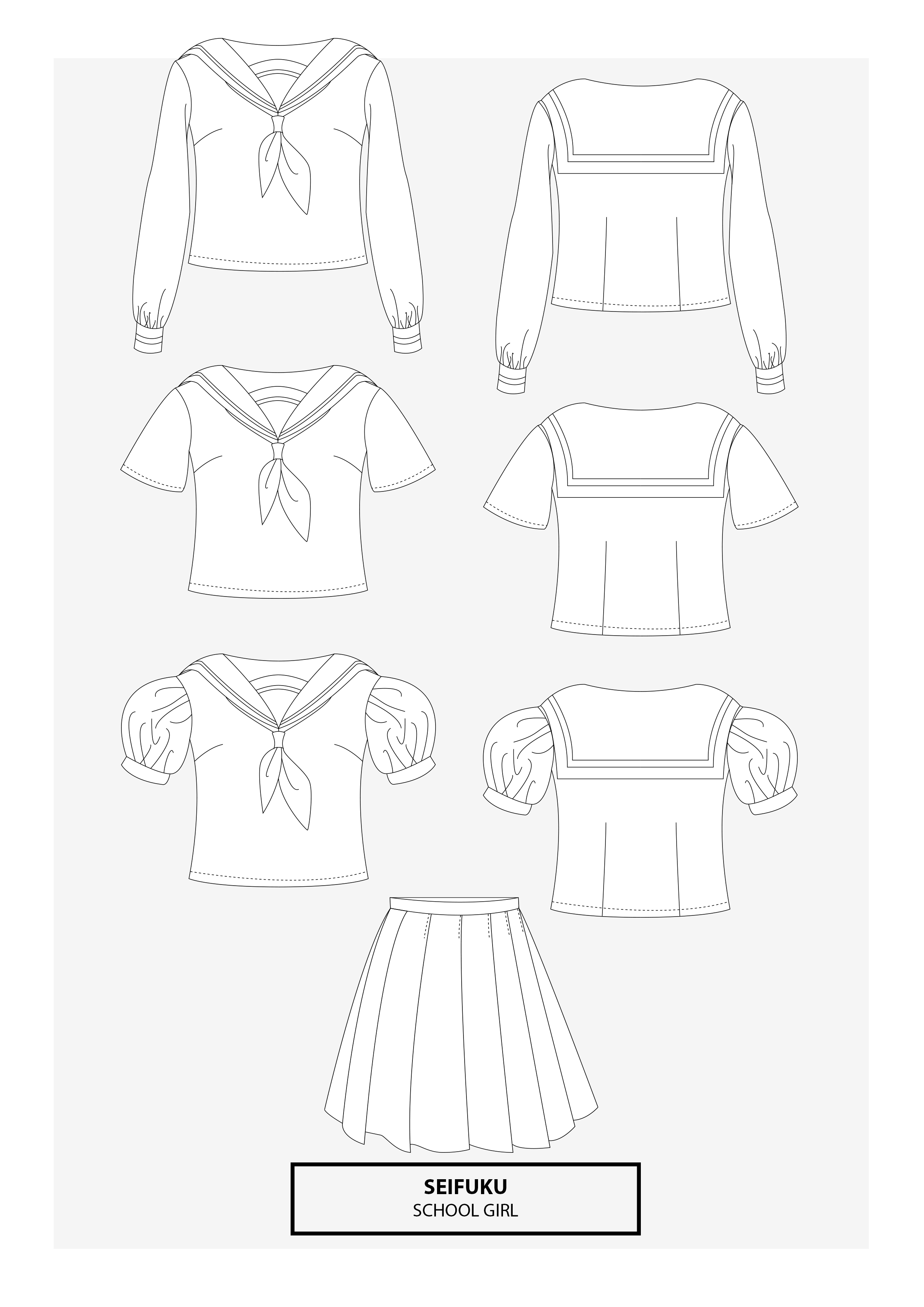 Seifuku Japanese School Uniform | Cosplay Sewing Pattern | Cosplay ...