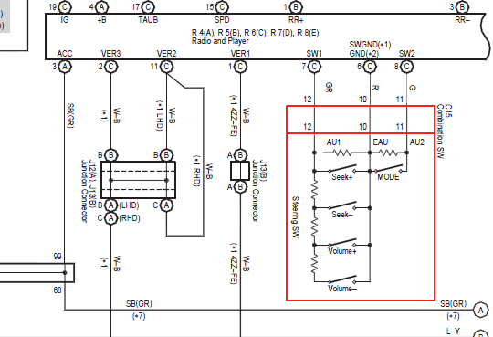 swc wiring diagrams color code toyota   37 wiring diagram