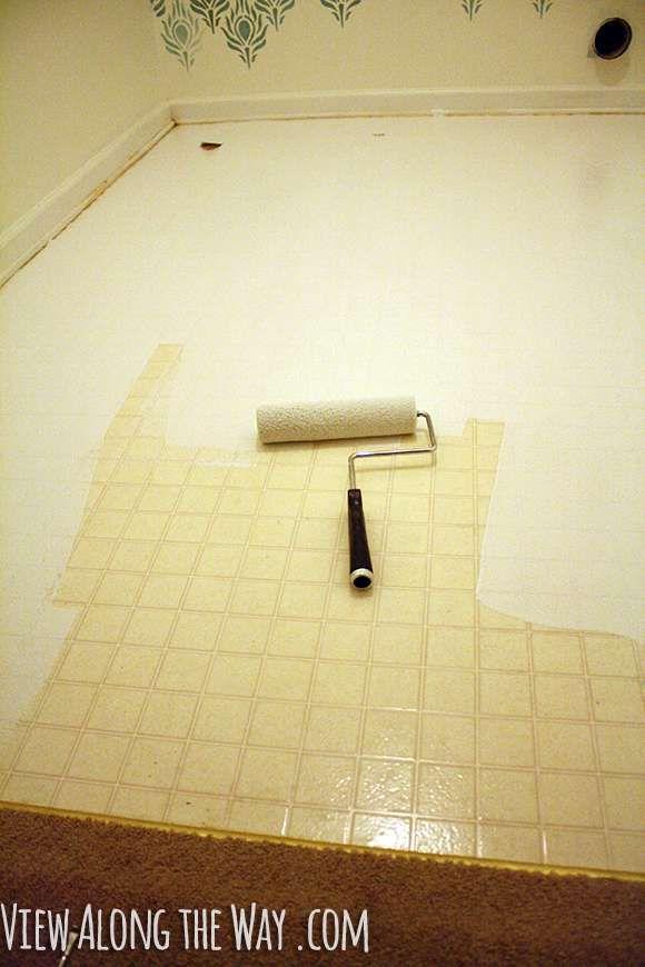 how to paint vinyl or linoleum sheet flooring   mh ideas