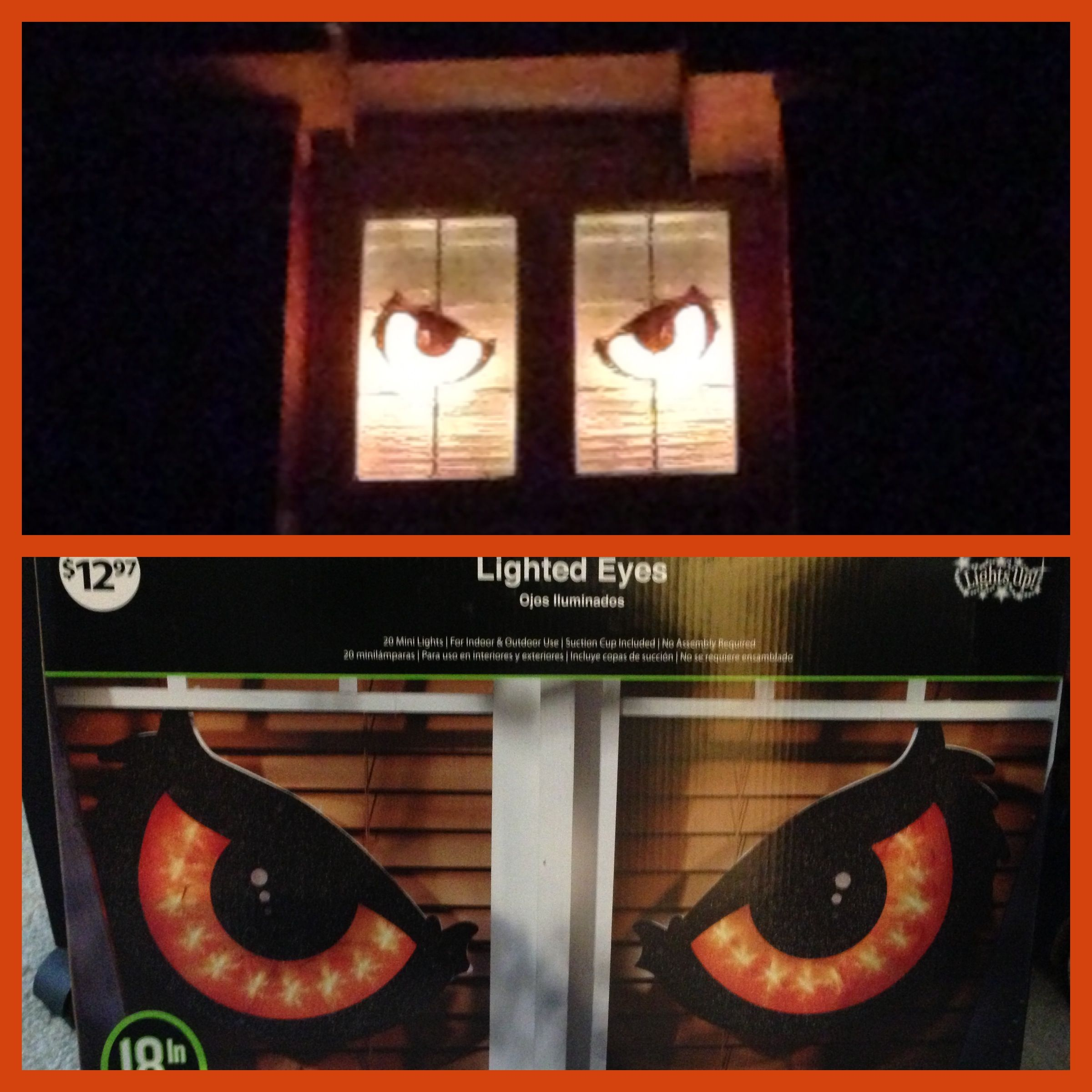 halloween decoration lighted eyes from walmart suction cup to window - Walmart Halloween Decorations