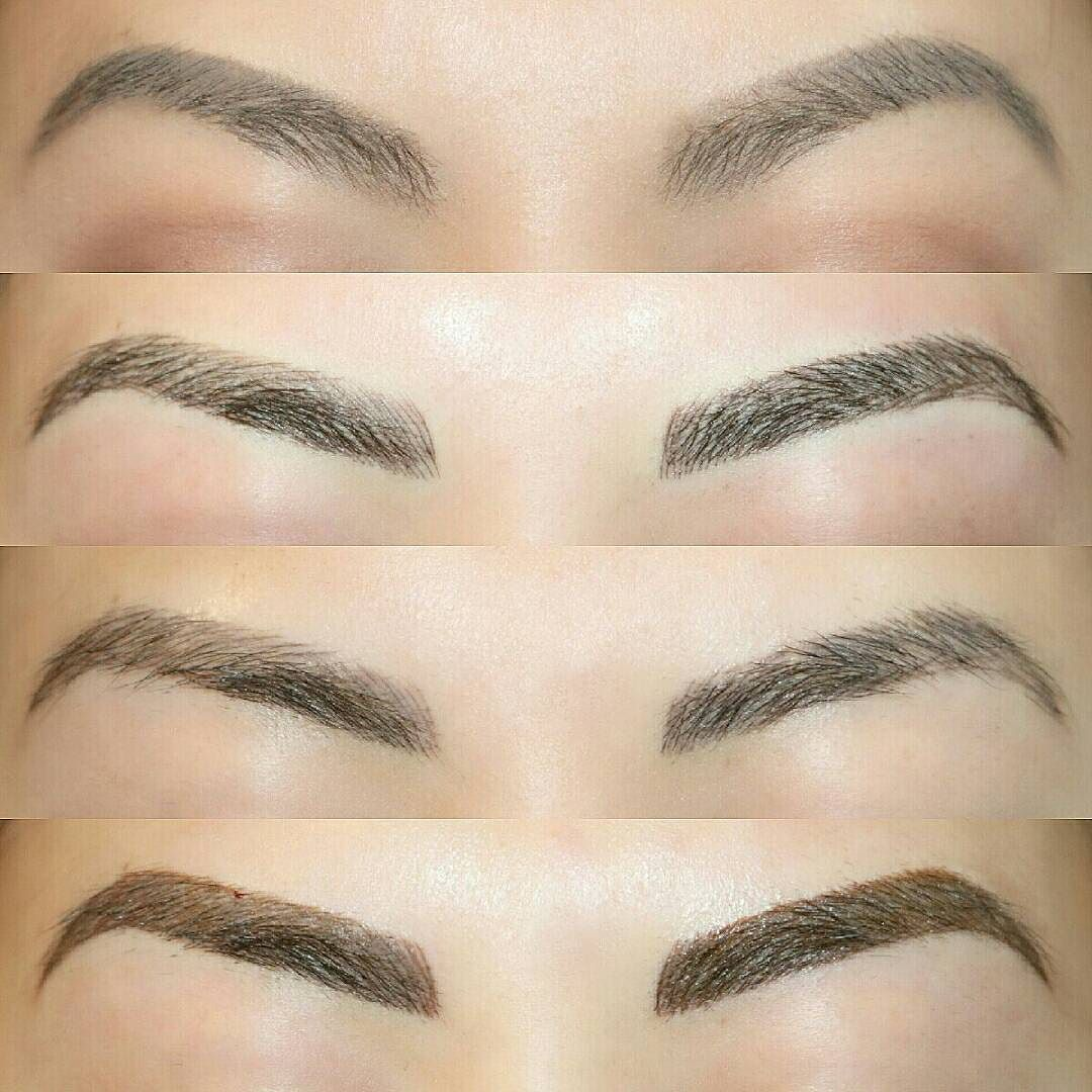 Got my brows tattooed with @artistryofangelalin! This is my before ...