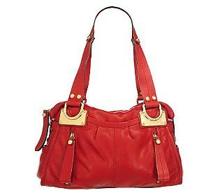 B Makowsky Glove Leather East West Zip Top Satchel My
