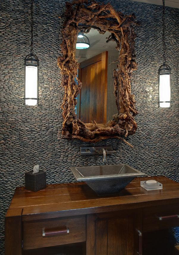5 Lovely Bathroom Accent Wall Design Ideas Rustic Powder