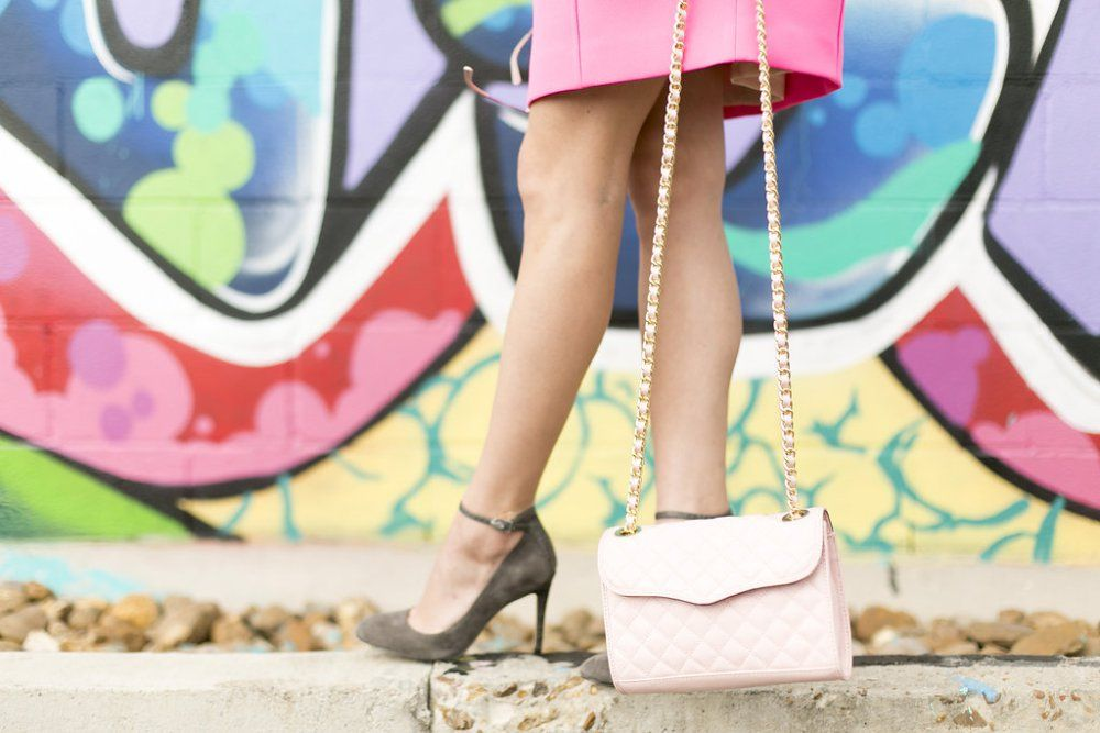 How to wear a bright pink dress all year • Uptown with Elly Brown