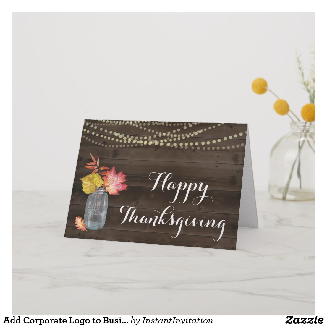add corporate logo to business thanksgiving holiday card jpg 1106x1106 holiday card wording - Holiday Card Wording