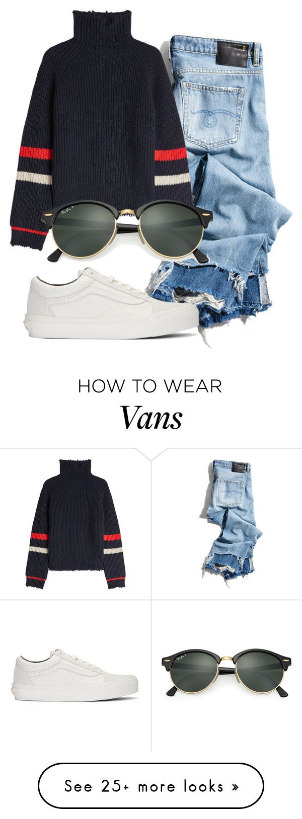 """""""Untitled #1617"""" by ellamidge on Polyvore featuring R13, Zadig & Voltaire, Vans and Ray-Ban"""