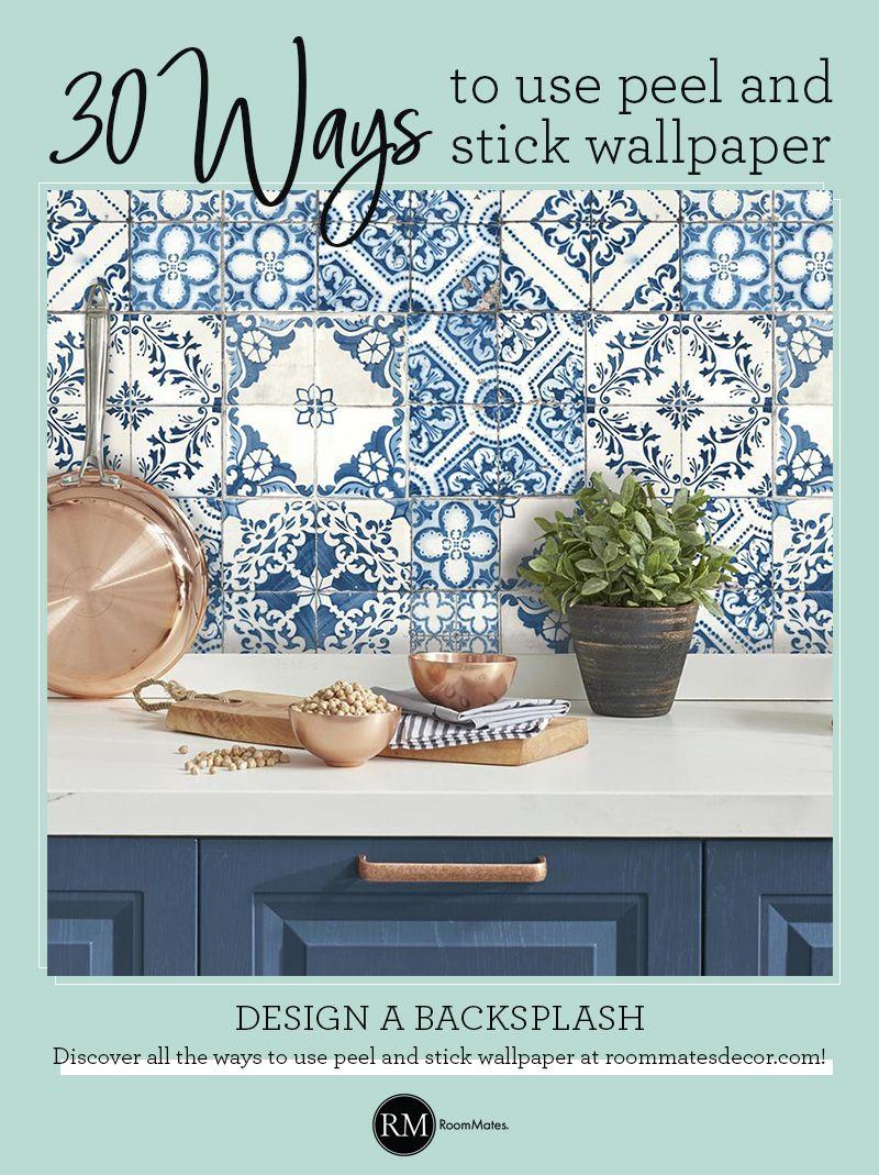 Mediterranean Tile Peel And Stick Wallpaper Mediterranean Decor Mediterranean Home Decor Mediterranean Tile